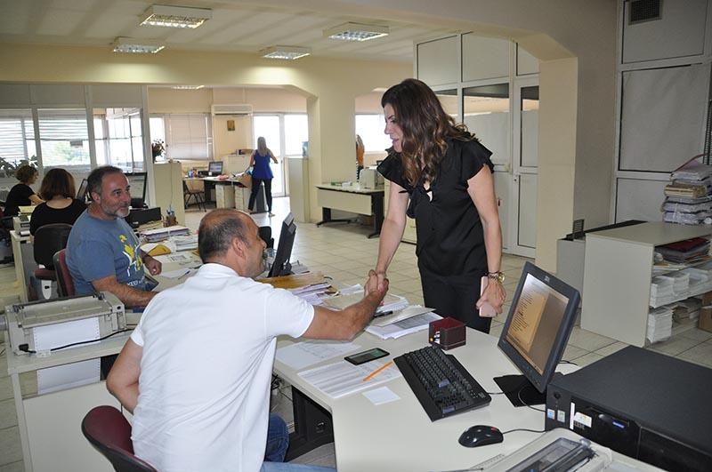 Η Γεωργία Μπόκα σε ΙΚΑ, ΚΕΚΥΚΑΜΕΑ και επιχειρήσεις του Αγρινίου