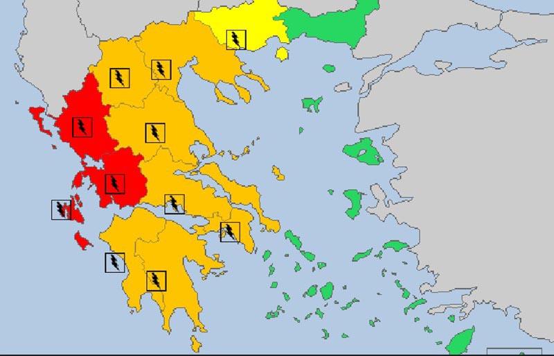 """Ετοιμότητα για τον ερχομό του """"Αντίνοου"""" στην Αιτωλοακαρνανία – Οδηγίες στους πολίτες"""