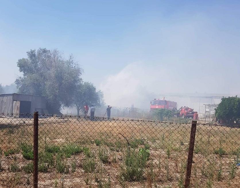 Φωτιά σε λιοστάσια κοντά στο Νοσοκομείο Αγρινίου