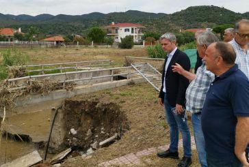 Στις πληγείσες περιοχές της Ναυπακτίας ο Κώστας Καραγκούνης (φωτο)