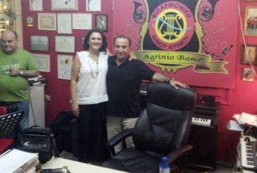 """Κατερίνα Κιτσάκη: """"Ισχυρός ο συμβολισμός της επίσκεψης στη Φιλαρμονική του Δήμου Αγρινίου"""""""