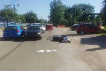 Ναύπακτος: Σύγκρουση ΙΧ με μοτοσικλέτα στην παραλία Ψανής
