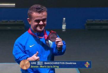 Άρση Βαρών: «Χάλκινος» στο Παγκόσμιο Πρωτάθλημα ο Ξηρομερίτης Δημήτρης Μπακοχρήστος