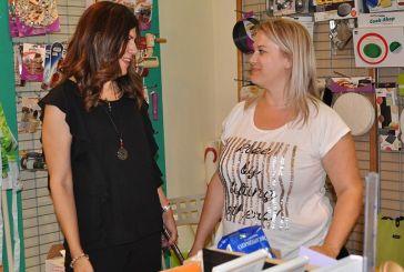 Επίσκεψη Γ. Μπόκα σε καταστήματα του Αγρινίου