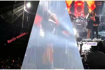 Πάολα… ρίχτο! Η στιγμή που τραγουδά υπό βροχή με εκατοντάδες εγκλωβισμένους στην Αχαΐα