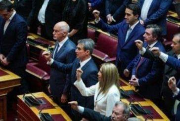 Με πολιτικό όρκο ορκίστηκε στη Βουλή ο Γιώργος Παπανδρέου