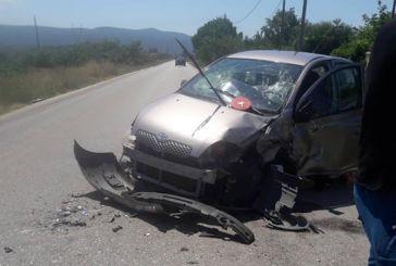 Μετωπική σύγκρουση αυτοκινήτων στο ύψος του Αγίου Νικολάου Βόνιτσας