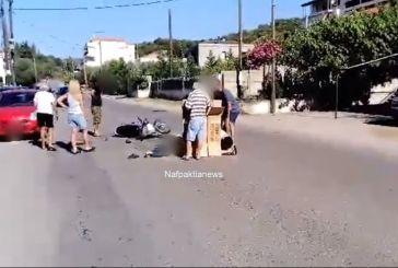 Τραυματίας δικυκλιστής από τροχαίο στη Ναύπακτο