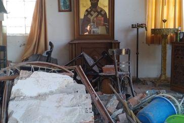 Μεγάλη Χώρα: οι ιδιοκτήτες του χωραφιού κατηγορούνται πως με το τρακτέρ γκρέμισαν την εκκλησία