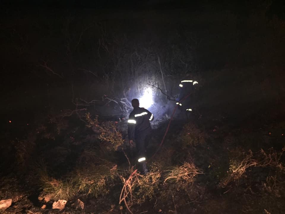 Νυχτερινή μάχη με τις φλόγες  στην περιοχή του Καινουργίου