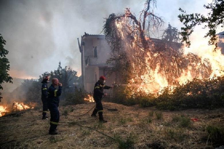 Τεράστια καταστροφή από τη φωτιά στην Εύβοια -Τουλάχιστον 25.000 στρέμματα η καμένη έκταση (video)