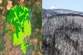Οικολογική καταστροφή στην Εύβοια δείχνει η χαρτογράφηση του Copernicus