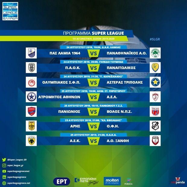 Σάββατο οι τρεις πρώτοι αγώνες του Παναιτωλικού στη Super League 1