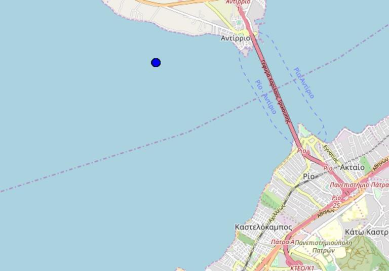 Σεισμός κοντά στο Αντίρριο
