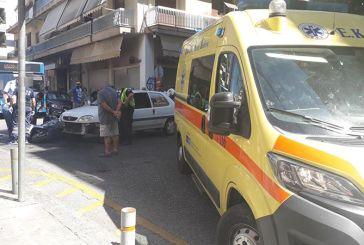 Τροχαίο με τραυματισμό δικυκλιστή στην συμβολή των οδών Κέντρου και Δαγκλή στο Αγρίνιο