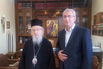 Συνάντηση Μητροπολίτη με τον δήμαρχο Θέρμου για τον εορτασμό των 500 ετών από το μαρτύριο του Αγίου Ιακώβου