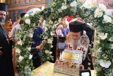 Η υποδοχή του Τιμίου Ξύλου και της αφθάρτου χειρός της Αγίας Μαρίας Μαγδαληνής στο Αντίρριο (φωτο)