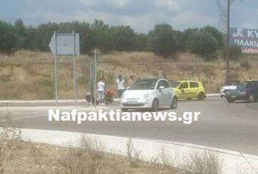 Τροχαίο ατύχημα με τραυματισμό στον κυκλικό κόμβο στο Αντίρριο (video)