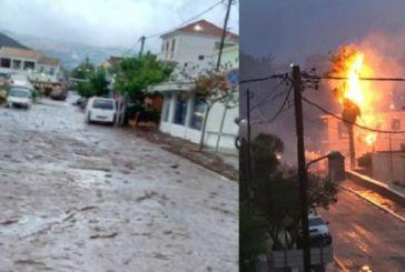 «Σφυροκόπημα» του καιρού σε Ιόνιο και Δυτική Ελλάδα: Δύο νεκροί από κεραυνούς σε Ηλεία και Μεσσηνία (video)