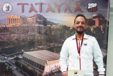 Μάριος Μαρκόπουλος: Χάλκινο σε τουρνουά πινγκ πονγκ για τον Αγρινιώτη αιμοκαθαιρόμενο αθλητή