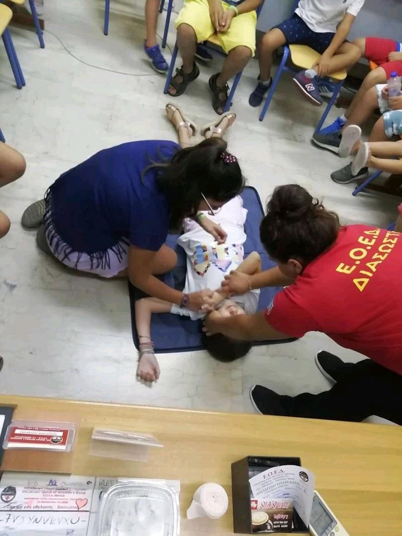 1ο Σχολείο Μικρών Διασωστών από την ΕΟΕΔ Μεσολογγίου