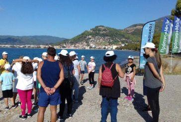 """""""Κορινθιακός η δική μας θάλασσα"""": Η 3η δράση καταγραφής θαλάσσιων απορριμμάτων στη Ναύπακτο (φωτο)"""