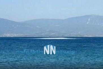Ελεγχόμενη έκρηξη νάρκης από το λιμενικό στη Ναύπακτο (video)