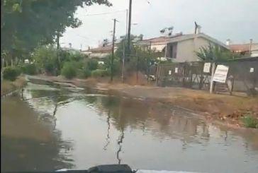 Αγρίνιο: απροσπέλαστος δρόμος με την πρώτη νεροποντή…(βίντεο)