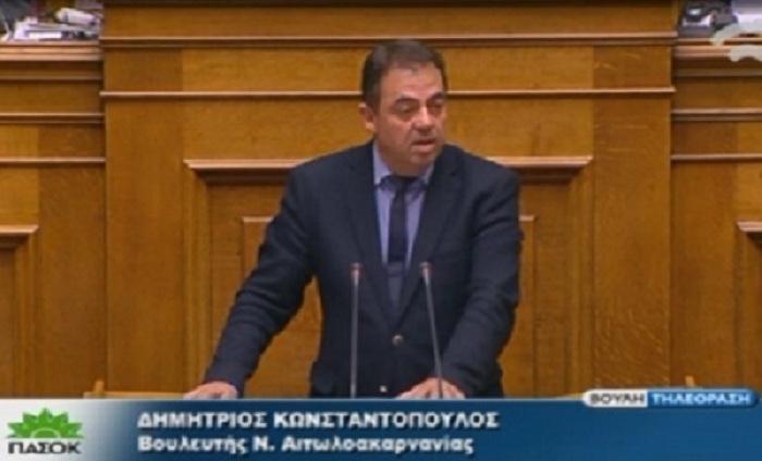 Eνίσχυση των Νοσοκομείων Αγρινίου και Μεσολογγίου ζητά ο Κωνσταντόπουλος