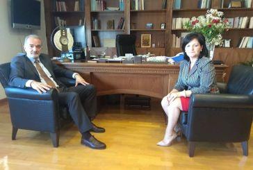 Συνάντηση της αντιπεριφερειάρχου με τον Βουλευτή της ΝΔ Μάριο Σαλμά