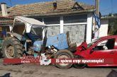 Τρακτέρ συγκρούστηκε μετωπικά με αυτοκίνητο στη Σταμνά
