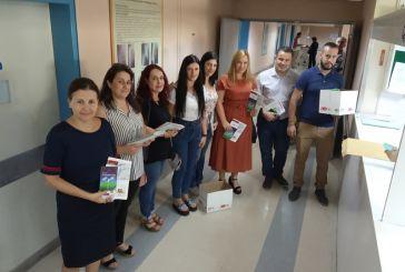 Ο αντιδήμαρχος Μεσολογγίου στο νοσοκομείο Χατζηκώστα με αφορμή την «Παγκόσμια Ημέρα Καρδιάς»