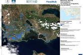 Δορυφορική χαρτογράφηση της έκτασης της πρόσφατης πλημμύρας στο δήμο Μεσολογγίου