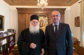 Στην Ι.Μ. Βατοπαιδίου ο Σπύρος Κωνσταντάρας συναντήθηκε με τον π. Εφραίμ (φωτο)