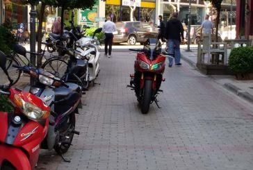 Αγρίνιο: Τα μηχανάκια σε… παράταξη στην Μπουκογιάννη