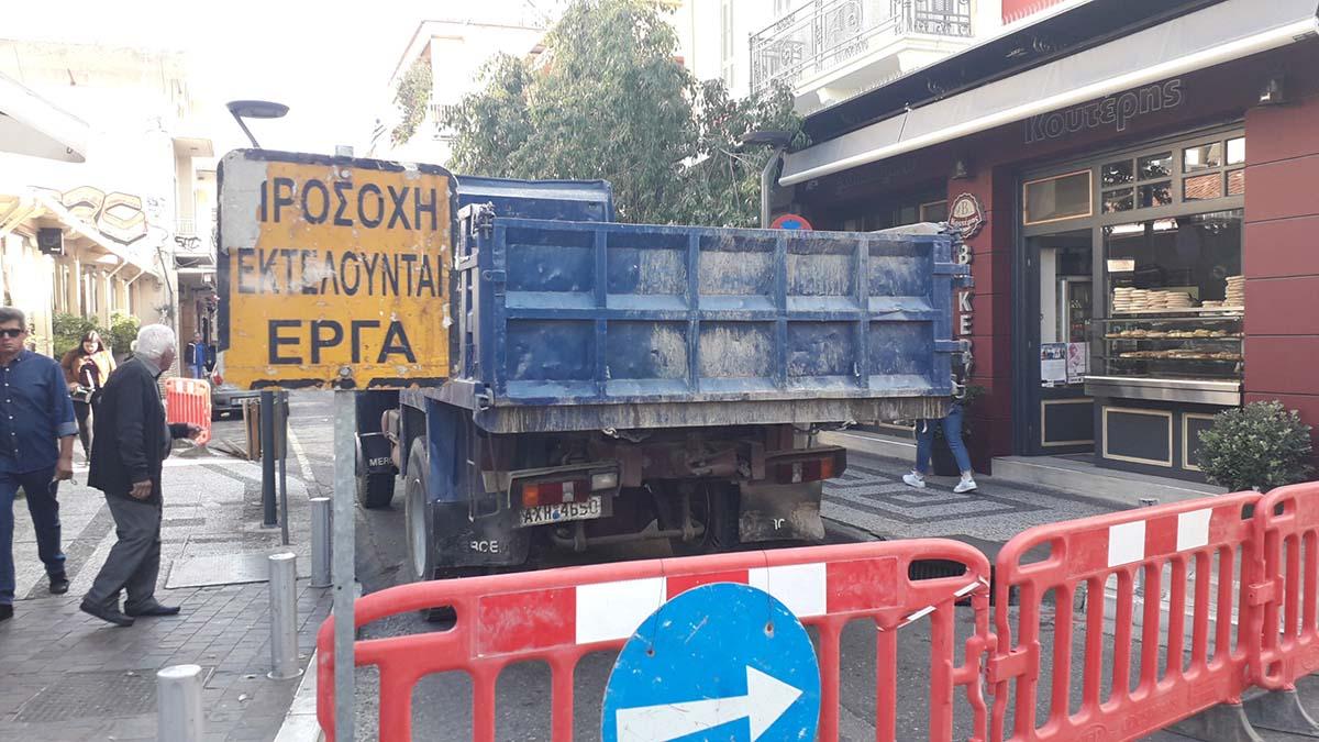 Κλειστό για δύο μέρες τμήμα της οδού Μπαϊμπά στο Αγρίνιο