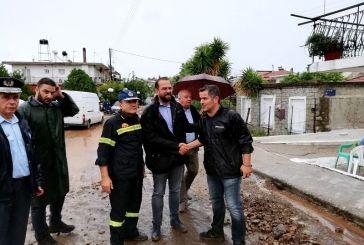 Ο περιφερειάρχης στις περιοχές που αντιμετώπισαν πλημμυρικά φαινόμενα