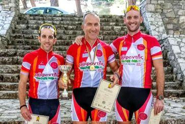 """Διακρίσεις Αγρινιωτών ποδηλατών στην """"6η ανάβαση Ομπλού"""""""