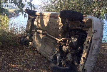 Aμφιλοχία:  σώθηκε στο «παρά πέντε» οδηγός οχήματος που ανατράπηκε