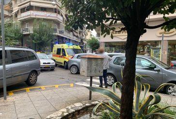 Τροχαίο με τραυματισμό δικυκλιστή στο κέντρο του Αγρινίου (φωτο)