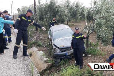 Εκτροπή αυτοκινήτου με ελαφρύ τραυματισμό στο Μεσολόγγι