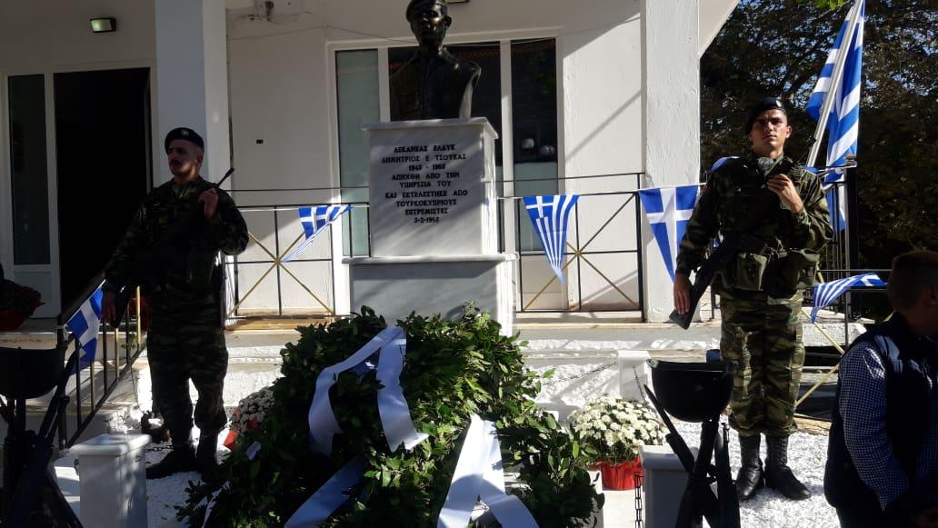 Μοναστηράκι Βόνιτσας: Συγκίνηση στα  αποκαλυπτήρια της προτομής του ήρωα Δημήτρη Τσούκα