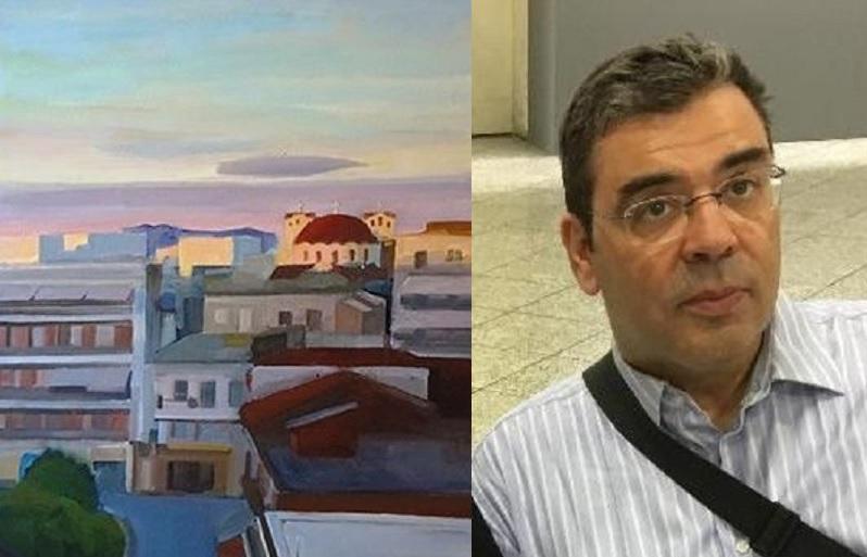 Έκθεση ζωγραφικής του Βασίλη Παπαγεωργίου στην Αθήνα με τοπία του Αγρινίου