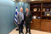 Συζήτηση για το θαλάσσιο μέτωπο στη συνάντηση Λύρου με τον Υπουργό Ναυτιλίας