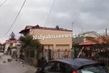 Ζημιές στο Αντίρριο από τους ισχυρούς ανέμους (videos)