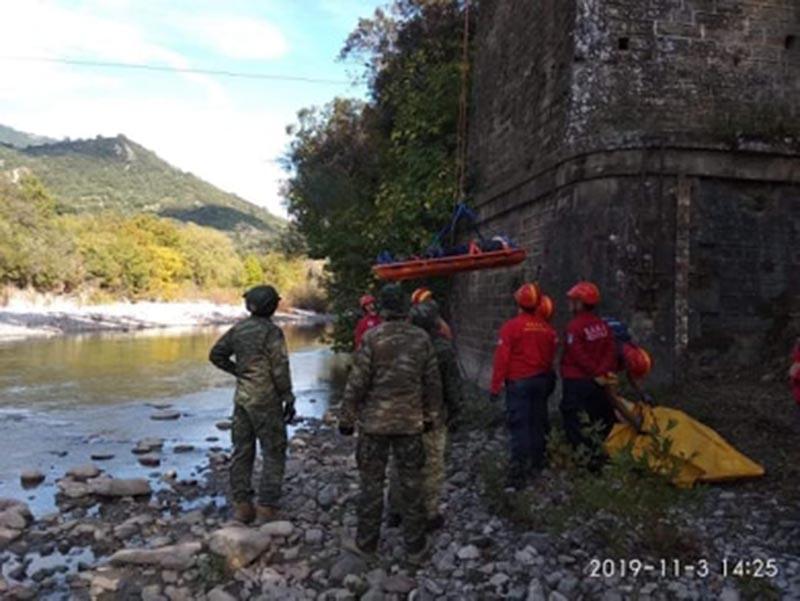 Κοινή άσκηση έρευνας και διάσωσης στη γέφυρα Μπανιά  από ΑΣΕΕΔ και ΕΟΕΔ (φωτο)