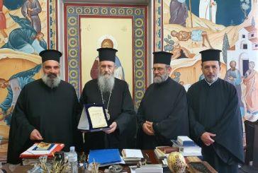 Ο ΙΣΚΕ ανακήρυξη σε επίτιμο μέλος του τον Μητροπολίτη Ναυπάκτου κ. Ιερόθεο