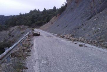 Κίνδυνος στο 34ο χιλιόμετρο της Εθνικής Οδού Αγρινίου –Καρπενησίου (φωτό)