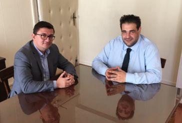 Συνάντηση του Δημάρχου Ξηρομέρου με τον υφυπουργό Εσωτερικών Θ. Λιβάνιο