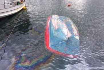Βούλιαξαν βάρκες από την κακοκαιρία στη Μαρίνα Αμφιλοχίας